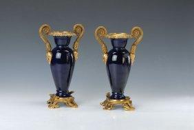 Pair Of Vases, Meissen