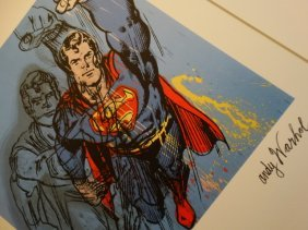 Andy Warhol, Superman Plate Signed And Hand Numbered