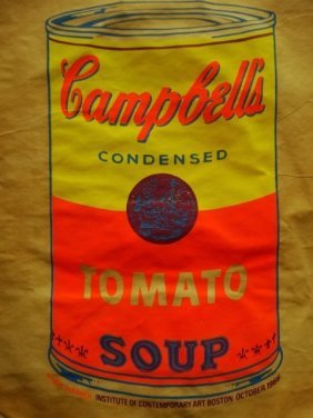Warhol's Campbell's Soup Can Screenprint Bag 1966