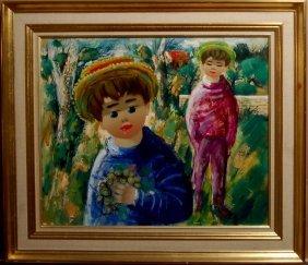 Nino Guiffrada (born 1924), Italian. Oil On Canvas.