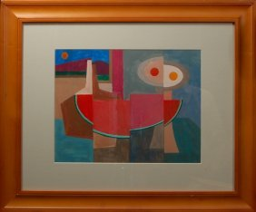 David Fox (1920-2011), American. Acrylic On Paper.