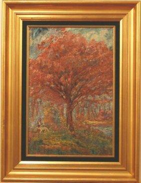 David Rosenthal (1876-1948) American. Oil On Cardboard,
