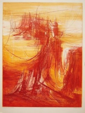 Terry Haas, (born 1923), Czech. Color Etching With