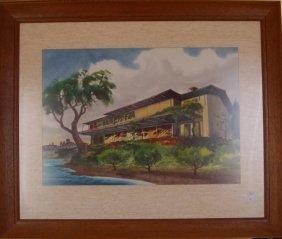 Richard Yip (1919-1981) Chinese/ American. Watercolor,
