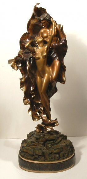 Angelo Basso (born 1943) Bronze Sculpture, Signed And