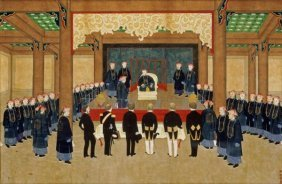 Zhou Pei Chun - A Mandarin Receiving European Diplomats