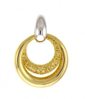 18kt White/yellow Pendant