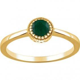 14kt Yellow Emerald May Birthstone Ring