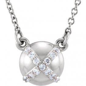 Platinum .07 Ctw Diamond 18 Necklace