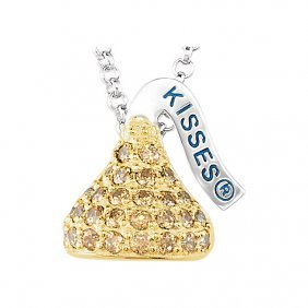 Sterling Silver November Hershey's Kisses Cubic