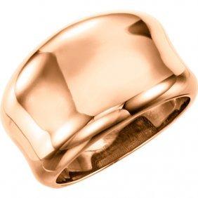 14kt Rose Concave Ring