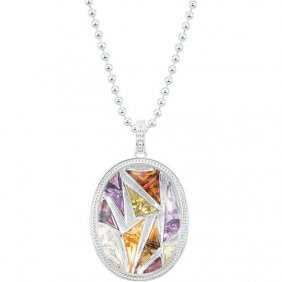 Sterling Silver Multi-gemstone 20 Necklace