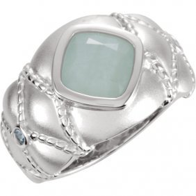 Sterling Silver Green Amethyst & Peridot Ring