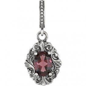 Sterling Silver Rhodolite Garnet Victorian Style