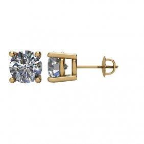 14kt Yellow 2 Ctw Diamond Earrings