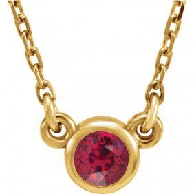 14kt Yellow Ruby 16 Necklace