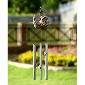 Bunny Boaters Wind Chime