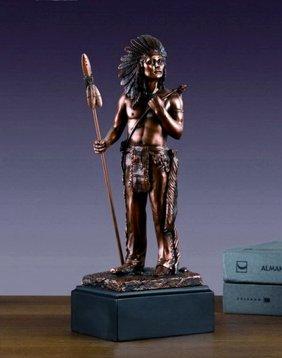 Bronze Indian Hero