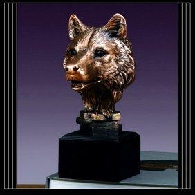 Bronze Wolf Head