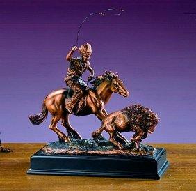 Bronze Indian Rider