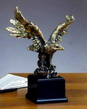 Bronze Antique Gold Tint Eagle