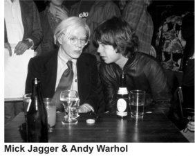 Richard Aaron Mick Jagger & Andy Warhol