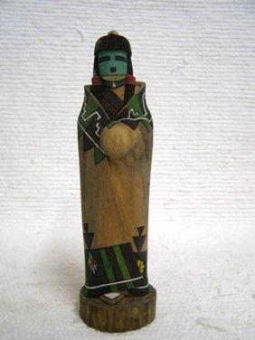 Native American Hopi Carved Hano Mana Katsina Sculpture