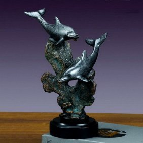 Bronze Two Dolphins