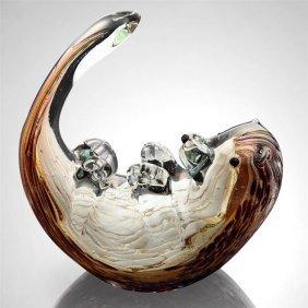 Art Glass Mischievous Sea Otter