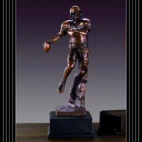 Bronze Football Player