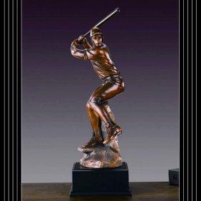 Bronze Baseball Player