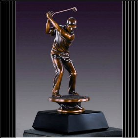 Bronze Male Golfer