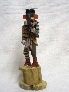 Native American Hopi Carved Left Handed Hunter Katsina