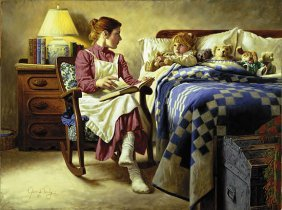 Jim Daly - Bedtime Story W/gift Print Her First Love