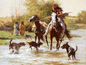 Howard Terpning - Yapping Dogs