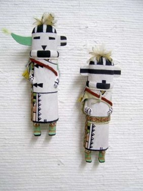 Old Style Hopi Carved Zuni Traditional Warrior Katsina