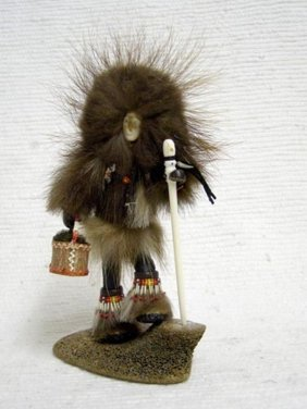 Native Alaskan Made Qaviq (wolverine) Woman Doll