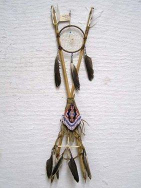 Native American Navajo Made 4-way Crossed Arrows With