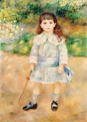 Pierre-auguste Renoir. Girl With A Whip, 1885