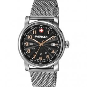 Wenger® Urban Classic Black Dial With Stainless Steel
