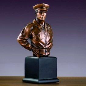 Bronze Policeman Bust