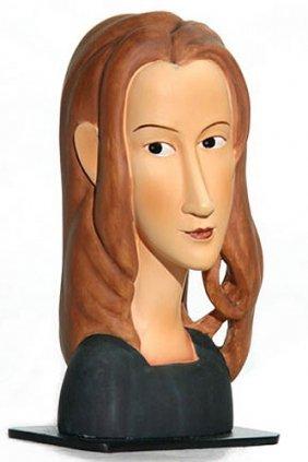 Jeanne Hebuterne Face Statue (1918) After Modigliani