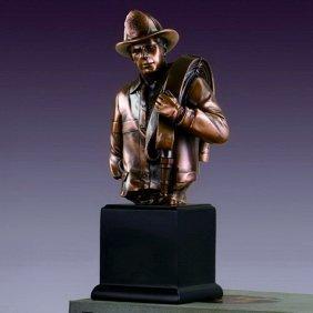 Bronze Fireman Bust