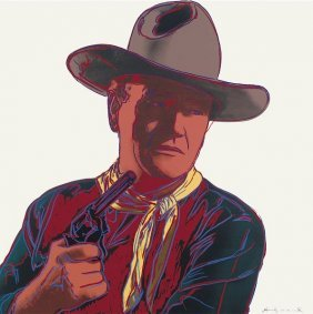 In The Manner Of Andy Warhol. Cowboys & Indians: John
