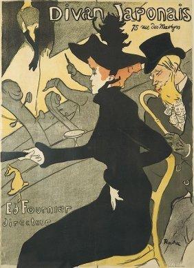 Henri De In The Manner Of Toulouse Lautrec. Le Divan