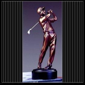 Bronze Third Place Golfer