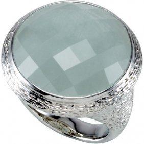 Gemstone Bark Design Ring