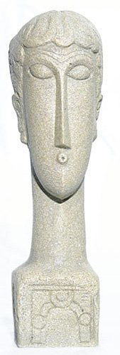 Abstract Female Head Sculpture (1913) After Modigliani