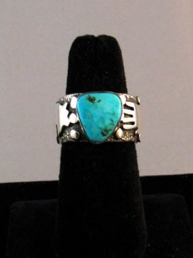 Native American Zuni/navajo Made Turquoise Ring