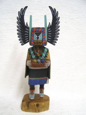 Native American Hopi Carved Crow Mother Katsina Doll